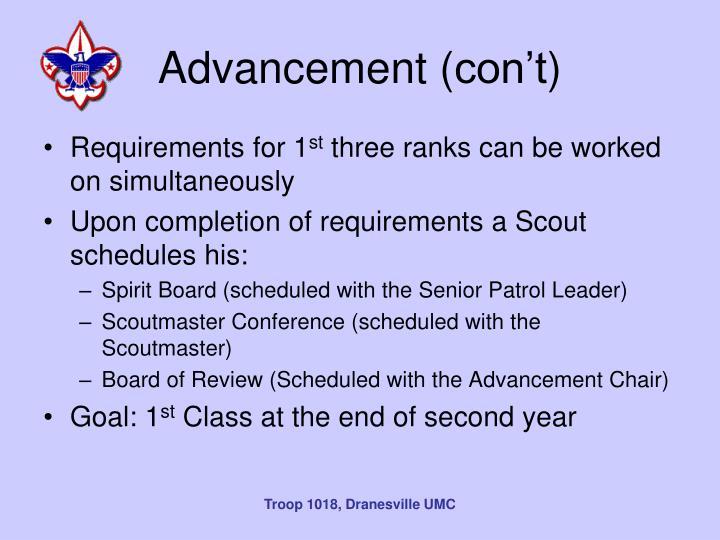 Advancement (