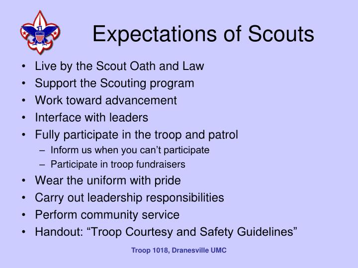 Expectations of Scouts