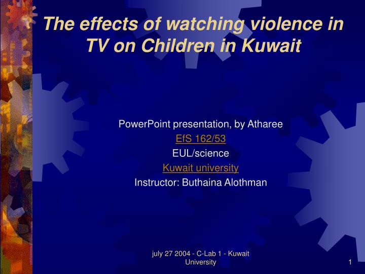 the effects of television violence on children Free coursework on the effects of television violence on children from essayukcom, the uk essays company for essay, dissertation and coursework writing.
