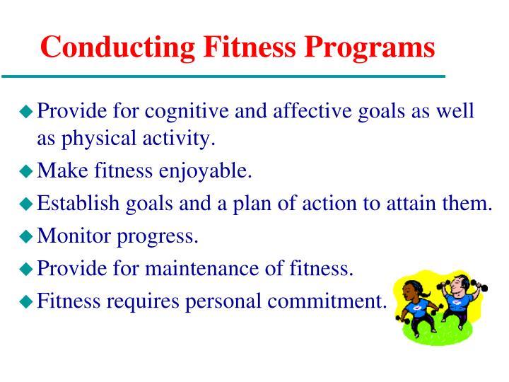 Conducting Fitness Programs