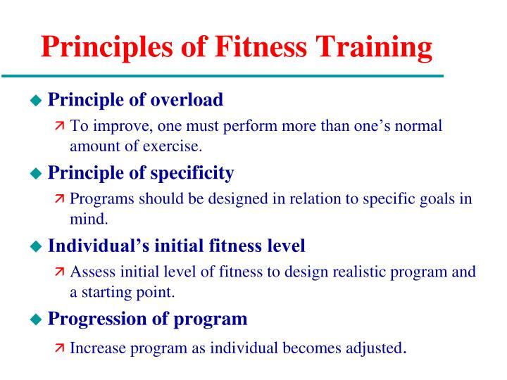 Principles of Fitness Training