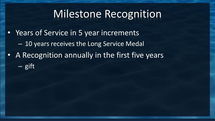 Milestone Recognition