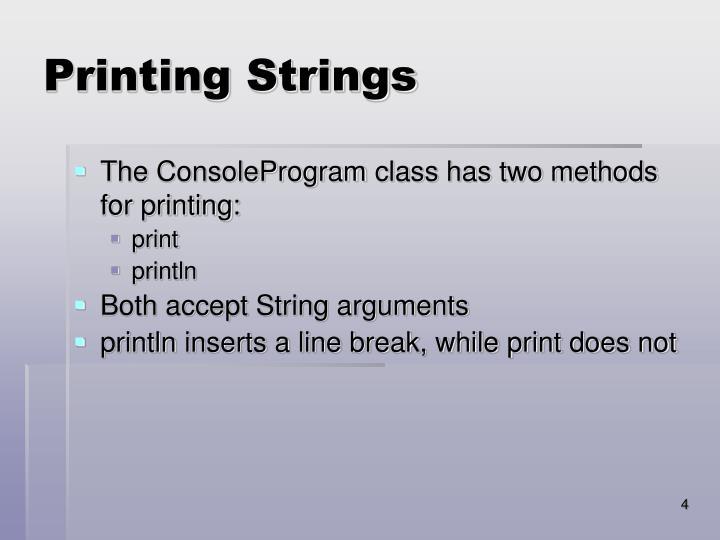 Printing Strings