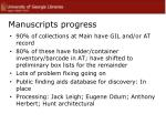 manuscripts progress
