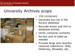 university archives scope