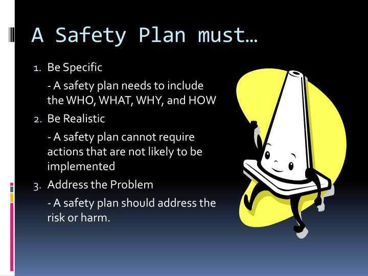 A Safety Plan must…