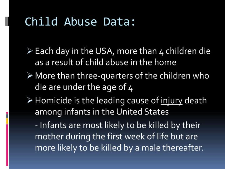 Child Abuse Data: