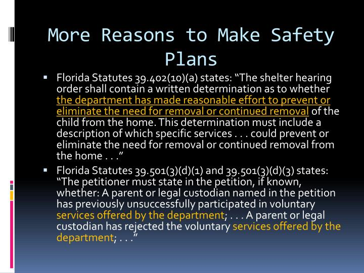 More Reasons to Make Safety Plans