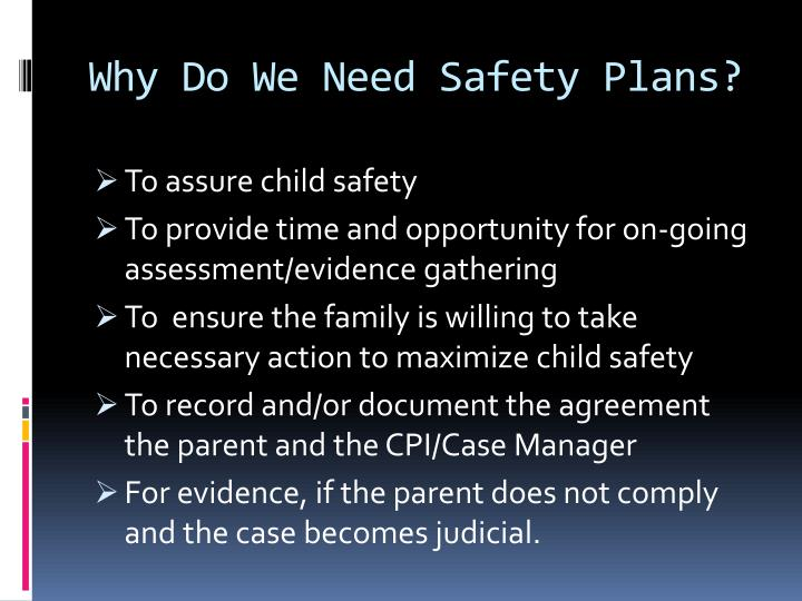 Why Do We Need Safety Plans?