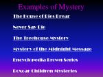 examples of mystery