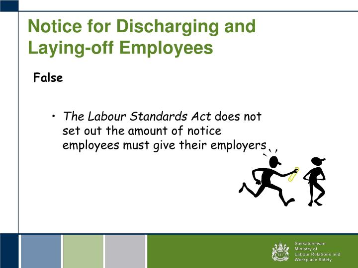 Notice for Discharging and Laying-off Employees