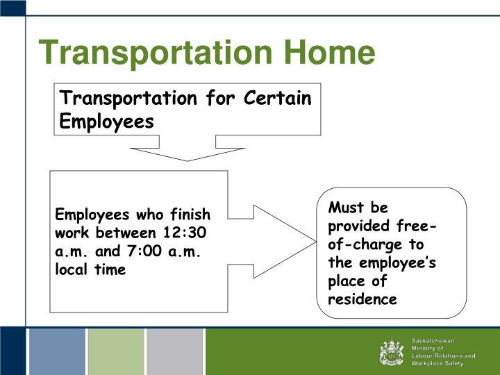 Transportation Home