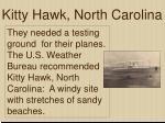 kitty hawk north carolina