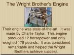 the wright brother s engine