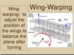 wing warping