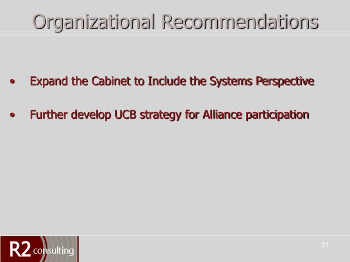 Organizational Recommendations