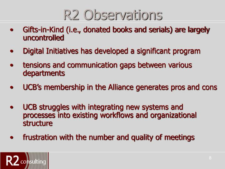 R2 Observations