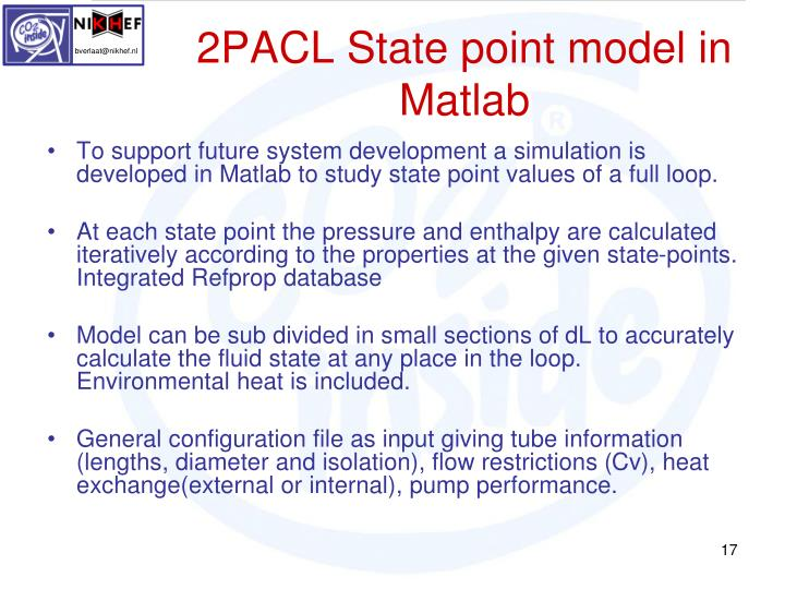 2PACL State point model in