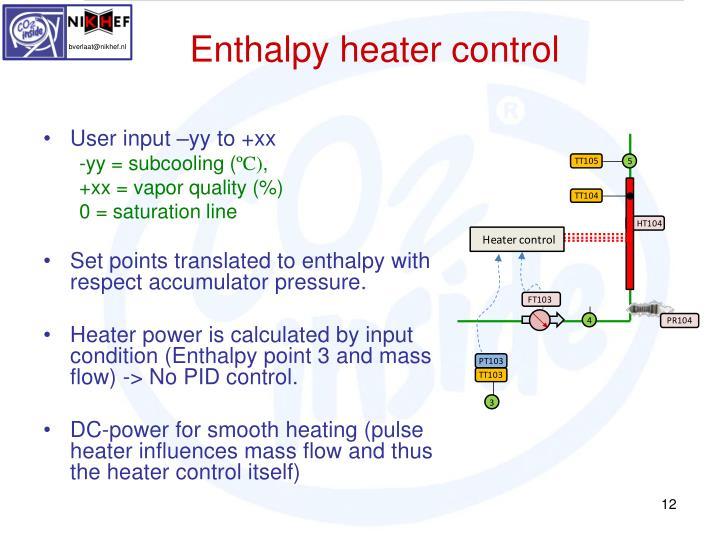 Enthalpy heater control