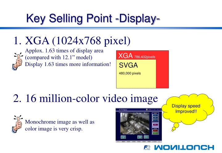 Key Selling Point -Display-