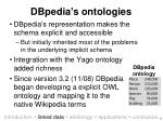 dbpedia s ontologies