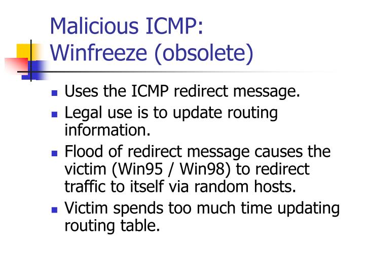 Malicious ICMP: