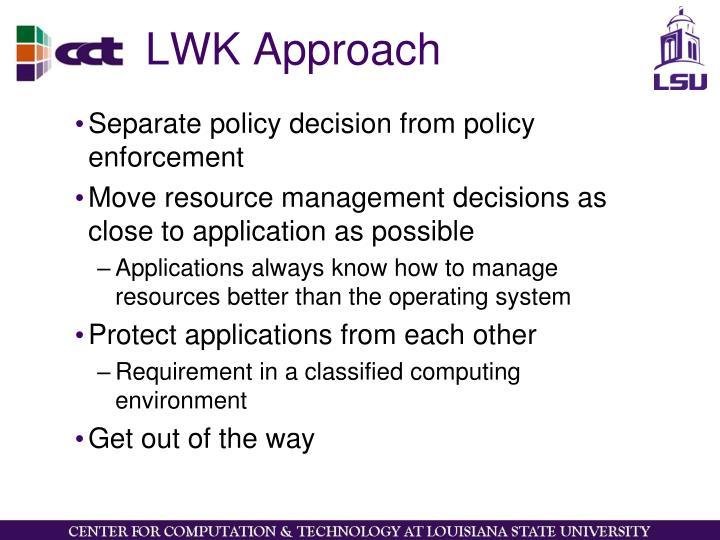 LWK Approach