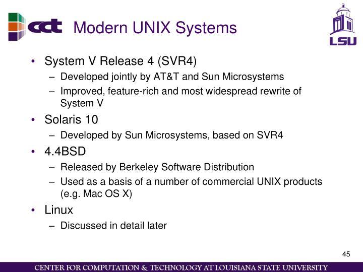 Modern UNIX Systems