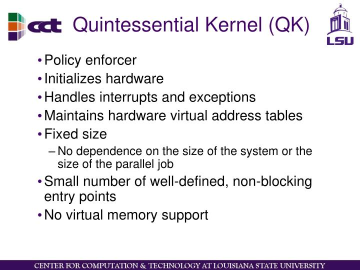 Quintessential Kernel (QK)
