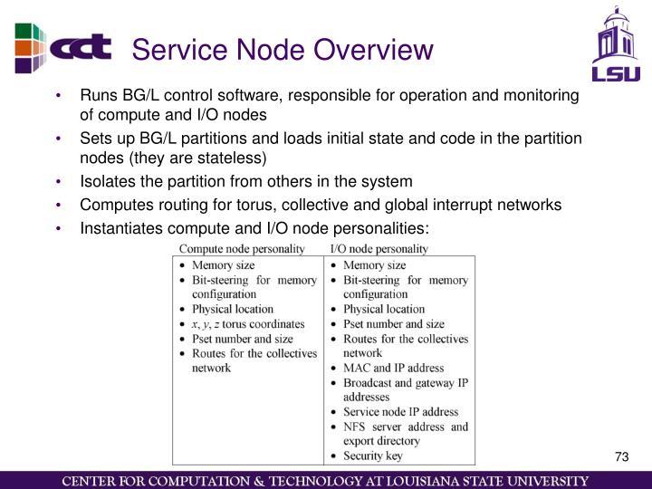 Service Node Overview