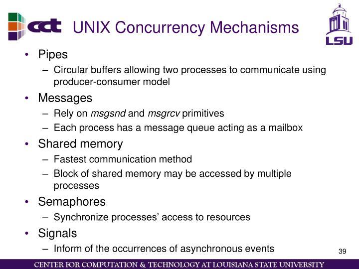 UNIX Concurrency Mechanisms