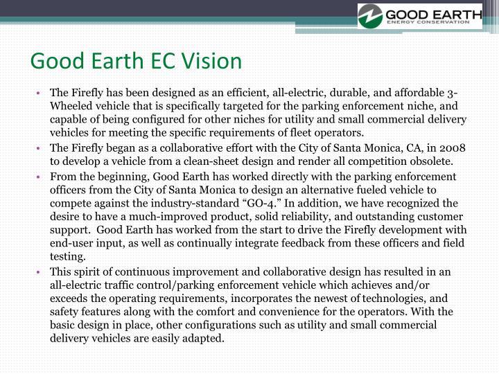 Good earth ec vision