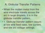 a globular transfer patterns