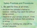 safety practices and procedures10