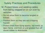 safety practices and procedures12