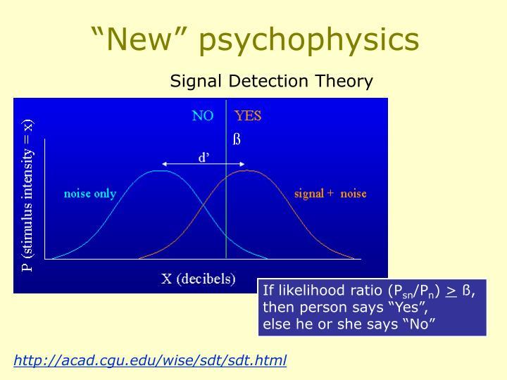 """New"" psychophysics"