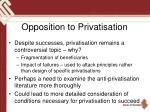 opposition to privatisation
