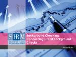 background checking conducting credit background checks