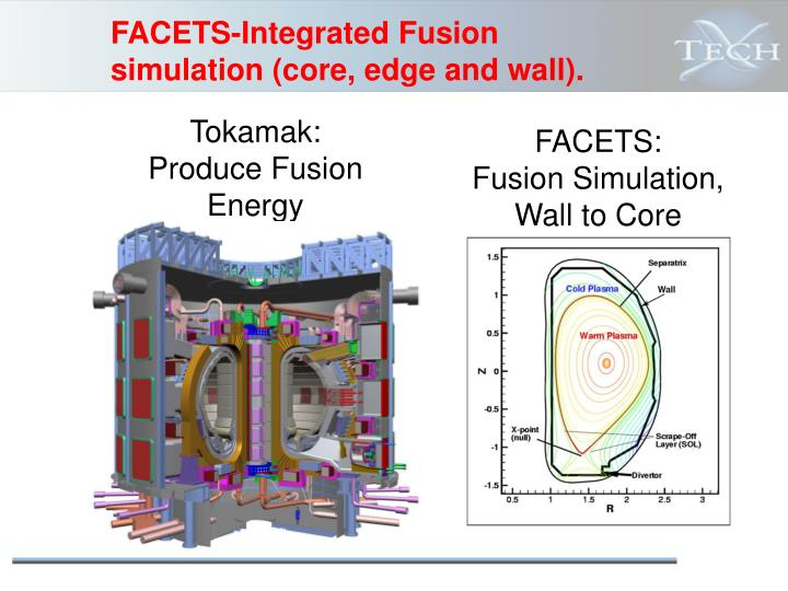 FACETS-Integrated Fusion simulation (core, edge and wall).