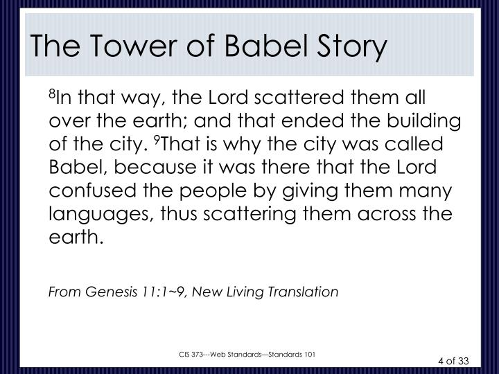 The Tower of Babel Story