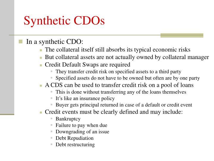 Synthetic CDOs