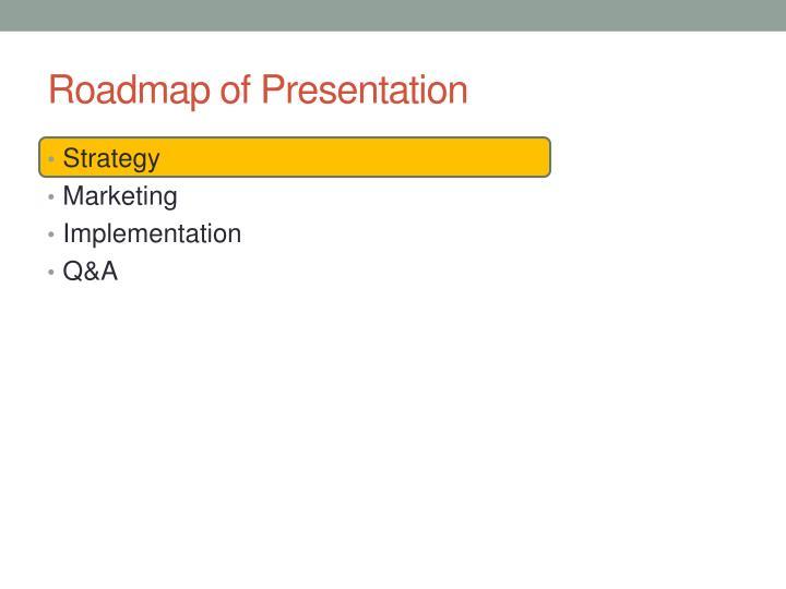 Roadmap of Presentation