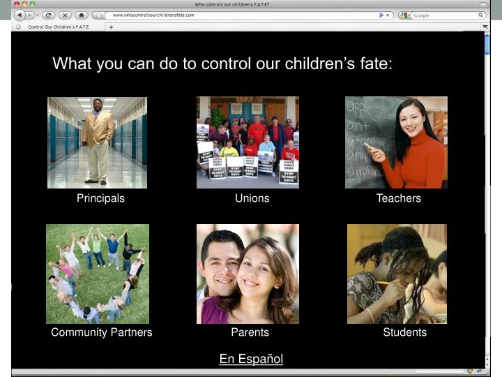 What you can do to control our children's fate: