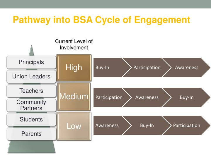 Pathway into BSA Cycle of Engagement