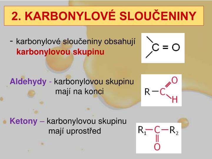 2 karbonylov slou eniny