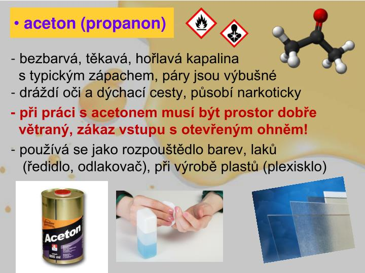 aceton (