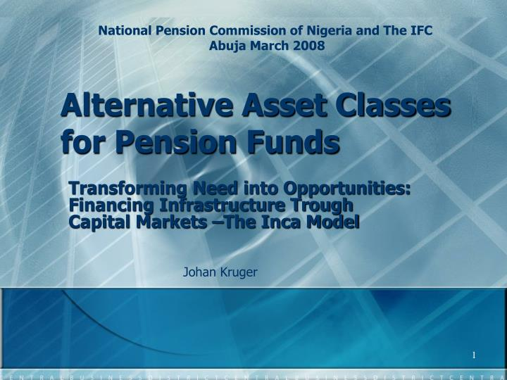 alternative asset classes for pension funds n.