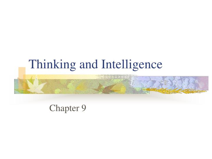 thinking and intelligence n.