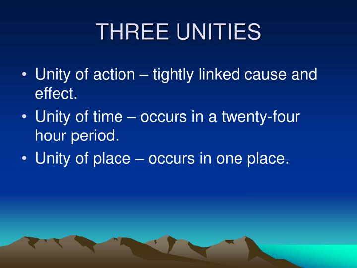 THREE UNITIES