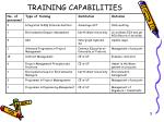 training capabilities